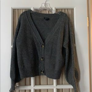 Cropped grey cardigan